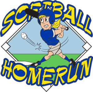 "1 1/4"" Homerun Softball Pin-2961"