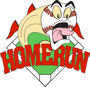 "1 1/4"" Screaming Homerun Baseball Pin-2973"