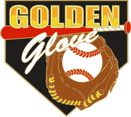 "1 1/4"" Golden Glove Baseball Pin-2974"