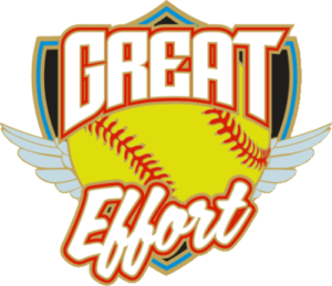 "1.25"" Great Effort Softball Pin-2964"