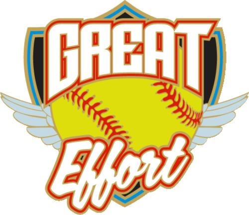 "1.25"" Great Effort Softball Pin-2964"
