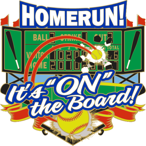 """1.25"""" On the Board Softball Pin-2965"""