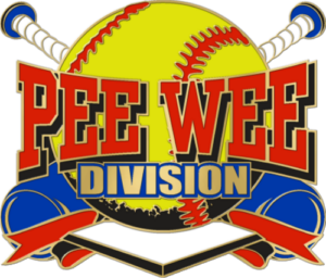 "1 1/4"" Pee Wee Division Softball Pin-2966"