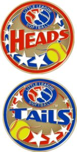 "1 1/2"" Little League Softball Coin-3094"