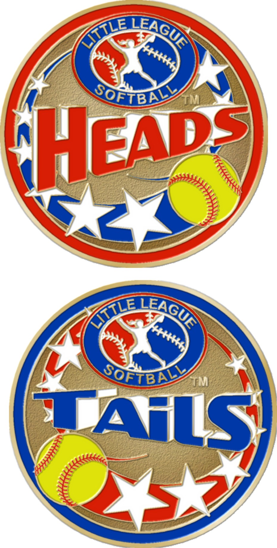 "1 1/2"" Little League Softball Coin-3094"