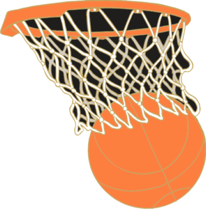 "1"" Basketball School Pin-2926"