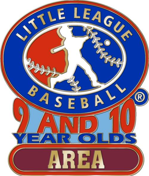 "1 1/4"" 9-10 Area Baseball Pin-2788"