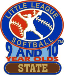 """1 1/4"""" 9-10 State Softball Pin-2832"""