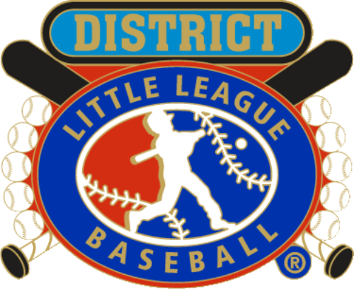 """1 1/4"""" Little League District Baseball Pin-2819"""