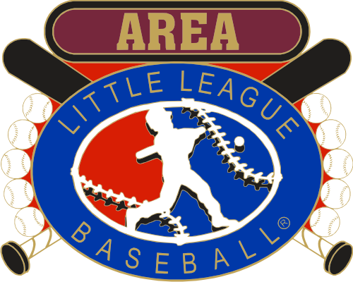 "1 1/4"" Little League Area Baseball Pin-2820"