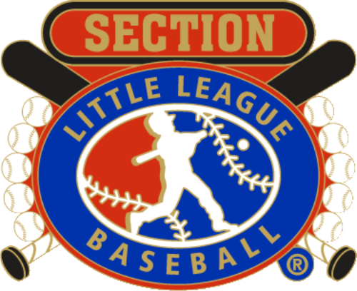 "1 1/4"" Little League Section Baseball Pin-2821"