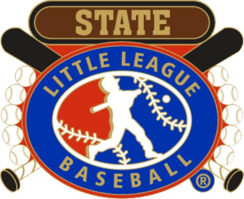 "1 1/4"" Little League State Baseball Pin-2822"