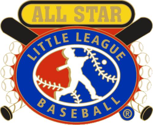"""1 1/4"""" Little League All Star Baseball Pin-2823"""