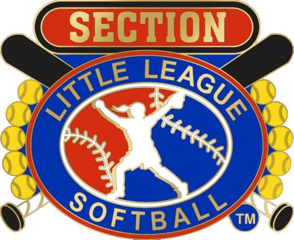 "1 1/4"" Little League Section Softball Pin-3090"