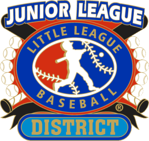 "1 1/4"" Junior League District Baseball Pin-2804"