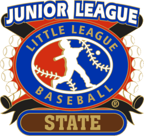 "1 1/4"" Junior League State Baseball Pin-2806"