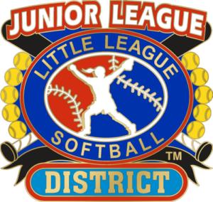 "1 1/4"" Junior League District Softball Pin-2845"