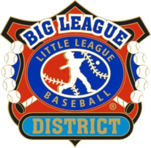 "1 1/4"" Big League District Baseball Pin-2814"
