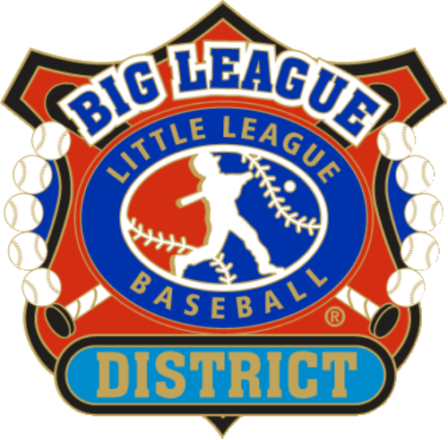 "1 1/4"" Big League District Baseball Pin-2814"