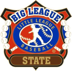 """1 1/4"""" Big League State Baseball Pin-2816"""