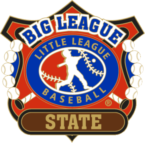 "1 1/4"" Big League State Baseball Pin-2816"