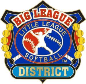 "1 1/4"" Big League District Softball Pin-3084"