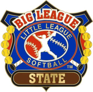 "1 1/4"" Big League State Softball Pin-3086"