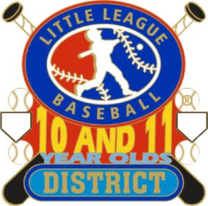 "1 1/4"" 10-11 District Baseball Pin-2793"