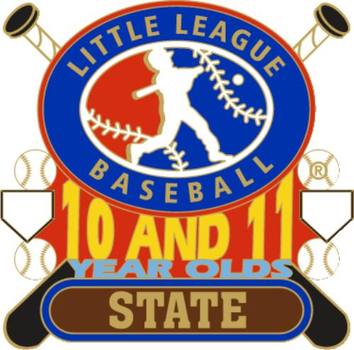 """1 1/4"""" 10-11 State Baseball Pin-2795"""