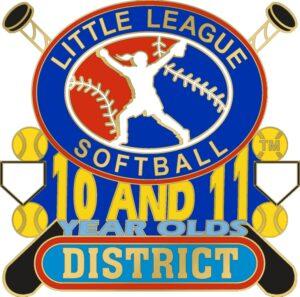 "1 1/4"" 10-11 District Softball Pin-3067"