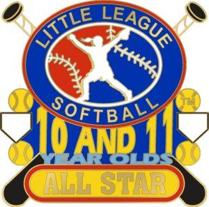 "1 1/4"" 10-11 All Star Softball Pin-3070"