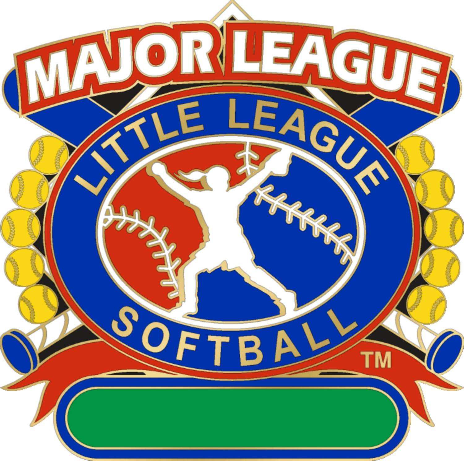 "1 1/4"" Major League All Purpose Softball Pin-3071"