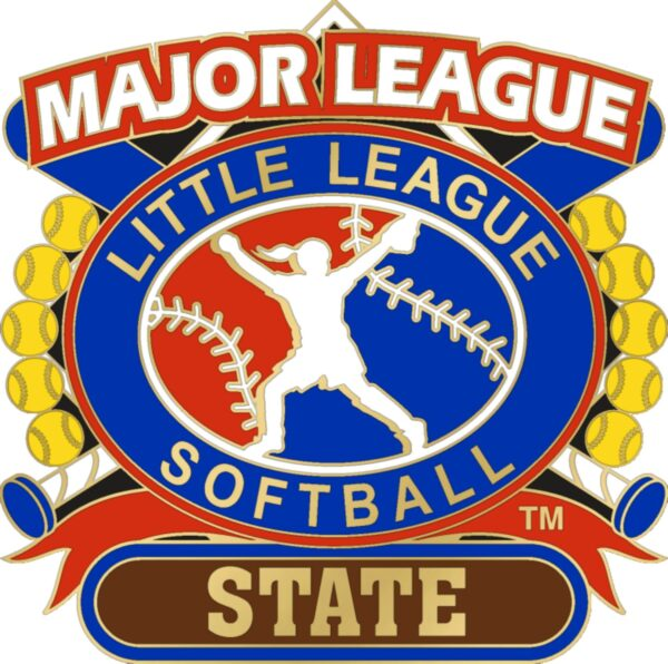 "1 1/4"" Major League State Softball Pin-3074"