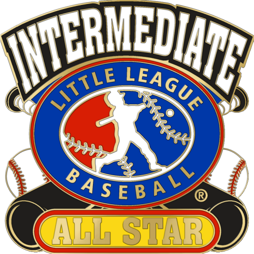 "1 1/4"" Intermediate All Star Baseball Pin-2828"