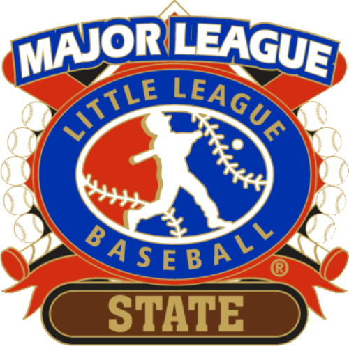 "1 1/4"" Major League State Baseball Pin-2801"