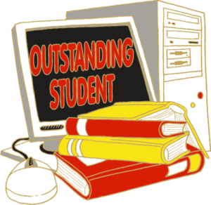 "1"" Outstanding Student School Pin-2933"