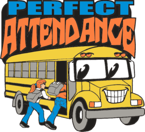 "1"" Perfect Attendance School Pin-2921"