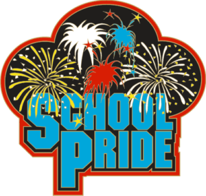 "1"" School Pride School Pin-2934"