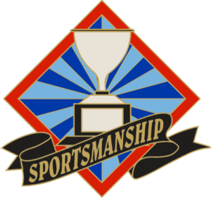 "1"" Sportsmanship School Pin-2925"