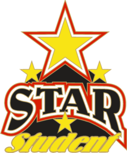 "1"" Star Student School Pin-2932"