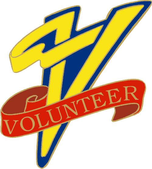 """1"""" Volunteer School Pin-2917"""