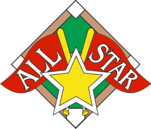 "1.25"" All Star Baseball Pin-2971"