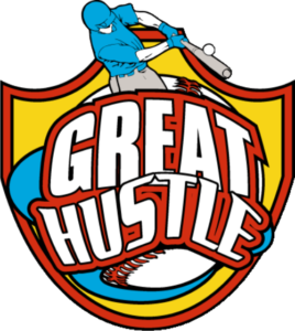 "1.25"" Great Hustle Baseball Pin-2987"