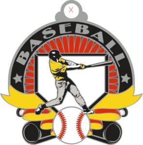 """2"""" Baseball Medal-2953"""