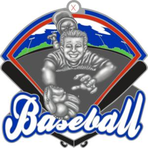 """2.25"""" Baseball Medal-2954"""