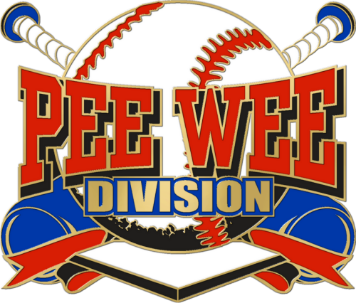 """1 1/4"""" Pee Wee Division Baseball Pin-2992"""
