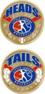 "1 1/2"" Little League Baseball Coin-3065"