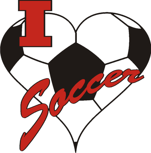 "1"" I Love Soccer-3052"