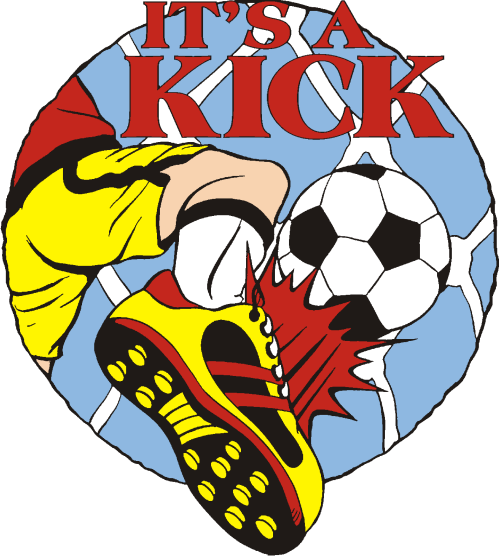 "1"" It's a Kick Soccer pin-3053"