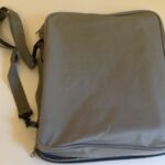 Large Gray Pin Bag Measures 12″ x 14″, Comes with a Shoulder Strap